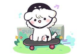 [PuppyJ the Series] #128 : Skateboard